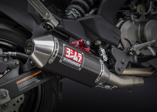 YOSHIMURA 14120AB250 FULL EXHAUST SYSTEM  RS-2 RS2 CARBON FIBER MUFFLER  STAINLESS HEAD PIPE & COLLECTOR / MID PIPE  KAWASAKI Z125 125 PRO 2017