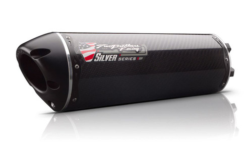 Carbon Fiber for 13-17 Kawasaki EX300 Two Brothers Hurricane Series Slip-On Exhaust