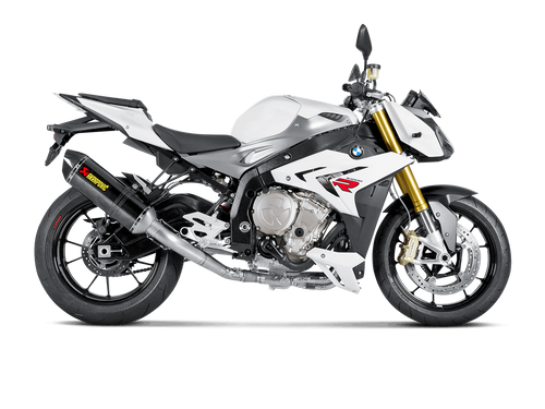 AKRAPOVIC S-B10R2-RC  FULL EXHAUST SYSTEM CARBON FIBER CF MUFFLER  STAINLESS HEADER / COLLECTOR & MID / LINK PIPE   BMW S1000R 14 15 16 2014 2015 2016