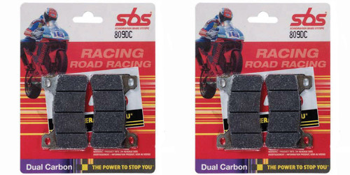 SBS 809DC DUAL CARBON 2 PAIR OF PADS FOR BOTH SIDES OF THE FRONT ROTORS   HONDA CBR1000RR CBR1000 FIREBLADE CBR 1000 1000RR
