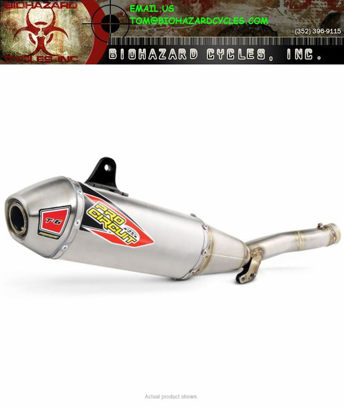 PRO CIRCUIT 0131645A T-6 SLIP ON EXHAUST SYSTEM YZ450F 14-17