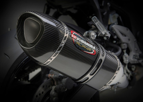 YOSHIMURA 11800EM220 ALPHA CARBON SLIP-ON EXHAUST GSX-S750