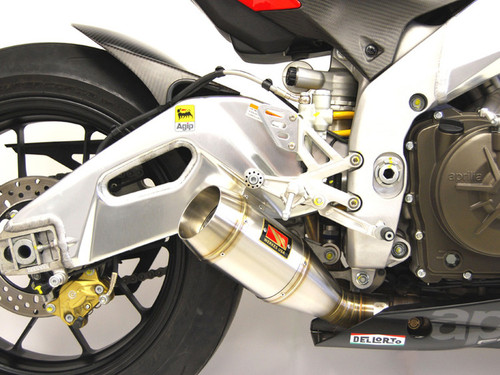 COMPETITION COMP WERKES WA1004-S SLIP ON SO  EXHAUST SYSTEM STAINLESS STEEL SS GP HAND WELDED MUFFLER APRILIA RSV4 RS-V4  09 10 11 12 13 14 15 2009 2010 2011 2012 2013 2014 2015