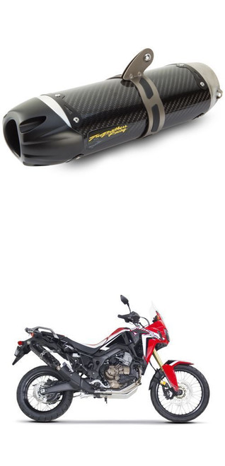 TWO BROS 005-4520405-S1 CARBON SLIP ON EXHAUST AFRICA TWIN