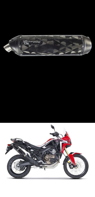 TWO BROS 005-4520407-S1B CARBON SLIP ON EXHAUST AFRICA TWIN