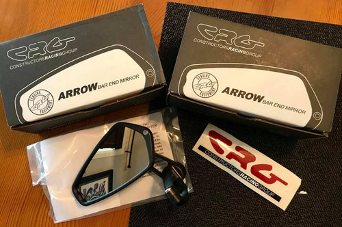 CRG AO-100 ARROW BAR END MIRRORS PAIR 2 MIRRORS