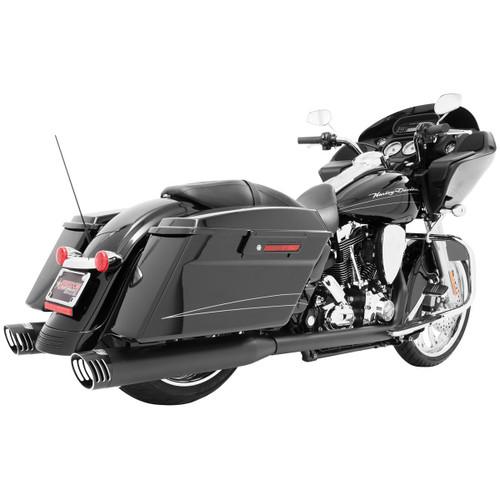 FREEDOM PERFORMANCE HD00272 BLACK Racing True Dual Exhaust Harley Touring 2009-2016