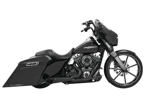 FREEDOM PERFORMANCE HD00849 BLACK 2 INTO 1 TURNOUT HARLEY TOURING 17-18