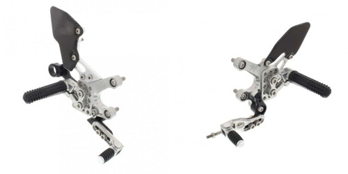 ATTACK PERFORMANCE 712110S REARSET KIT W SHIFT LEVER SILVER RSV4 TUONO 17-18