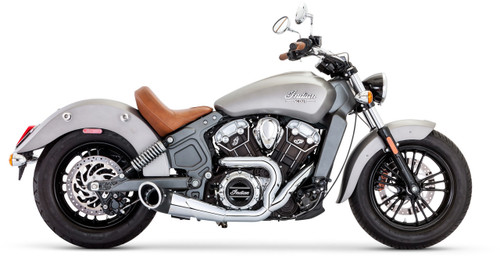 FREEDOM PERFORMANCE IN00077 2 INTO 1 CHROME TURNOUT EXHAUST INDIAN SCOUT 15-18