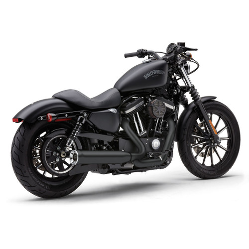COBRA 6461B BLACK Power Pro 2 INTO 1 FULL EXHAUST SPORTSTER