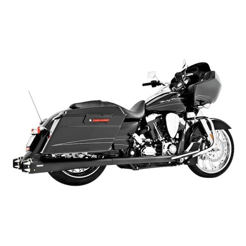 FREEDOM PERFORMANCE Outlaw HD00283 BLACK  True Dual Exhaust  Harley Touring 1995-2008