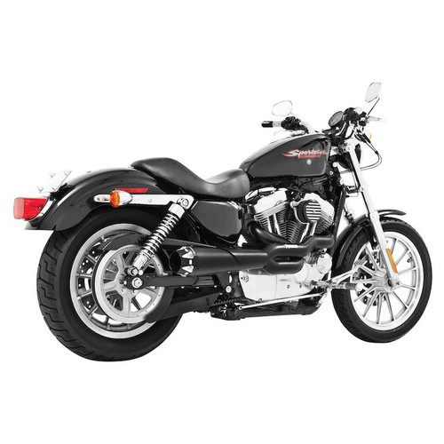 FREEDOM PERFORMANCE HD00415 AMERICAN OUTLAW BLACK 2 INTO 1 FULL EXHAUST SPORTSTER 04-19