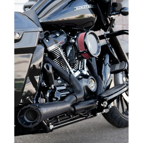 TWO BROTHERS 005-4870199-B BLACK TURNOUT 2-1 FULL EXHAUST HARLEY TOURING 17-20