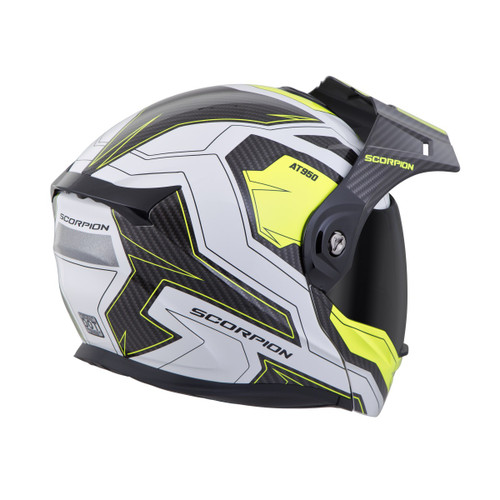 288230ca SCORPION EXO-AT950 Hi-Viz Yellow TUCSON HELMET ALL SIZES 95-0605 ...