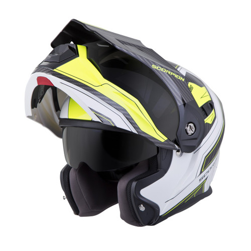 bc228d07 ... SCORPION EXO-AT950 Hi-Viz Yellow TUCSON HELMET ALL SIZES 95-0605 ...