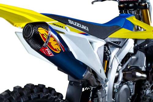 FMF 043367 FACTORY 4.1 RCT TITANIUM BLUE FULL EXHAUST SYSTEM RMZ450 18-19