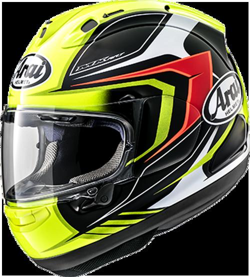 ARAI Corsair-X Bracket Helmet Fluorescent Yellow HELMET ALL SIZES 808183