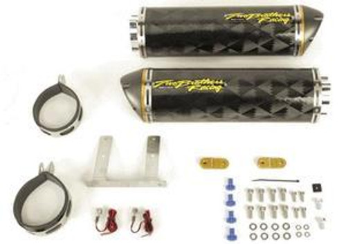 TWO BROTHERS 005-1390407D DUAL CARBON CF SO EXHAUST ZX10R 06-07