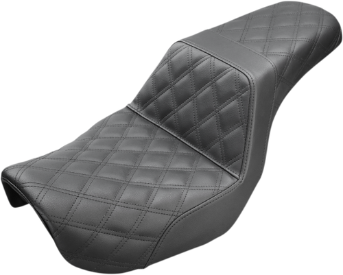 Saddlemen 806-04-175 Black Lattice Stitch Step-Up Seat DYNA 06-17