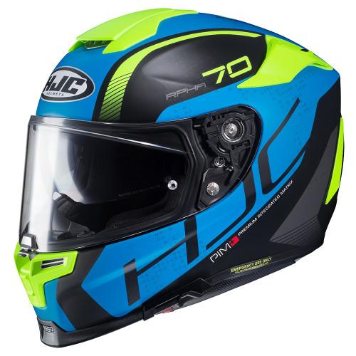 HJC RPHA 70 ST VIAS MC24HSF HIVIZ / BLUE Helmet ALL SIZES 1704724