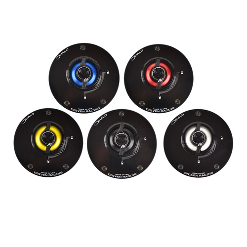 DRIVEN RACING FUEL GAS CAP & BASE SET CHOICE OF COLOR