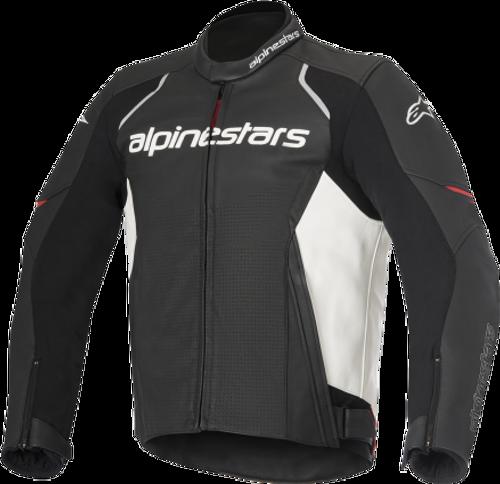 ALPINESTARS Devon Airflow Leather Jacket BLACK/WHITE 3102116-12