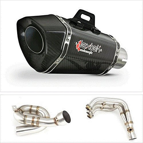 LEXTEK XP8C CARBON LOW MOUNT FULL EXHAUST SYSTEM FZ07 MT07
