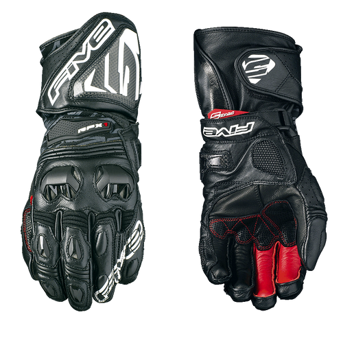 FIVE RFX1 RACE LEATHER GLOVES BLACK ALL SIZES 0117020110