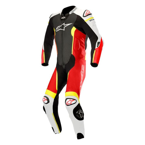 ALPINESTARS MISSILE LEATHER SUIT ALL SIZES BLACK WHITE RED YELLOW 3150118-1236