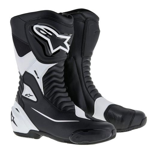ALPINESTARS SMX S Boots ALL SIZES BLACK / WHITE 2223517-12