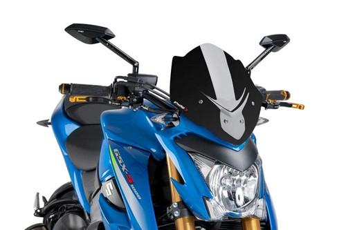 PUIG Naked New Generation Windscreen BLACK GSX-S1000 16-19 7653N