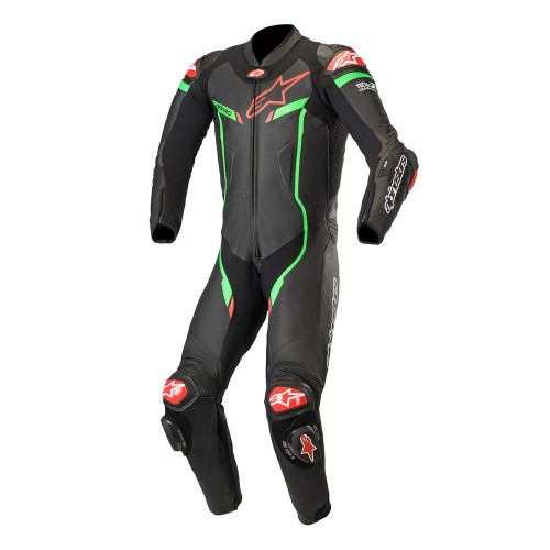 Alpinestars GP PRO V2 RACE SUIT BLACK/GREEN/RED 3155019-1062 ALL SIZES