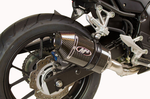 M4 HO5034 CARBON CF SLIP-ON EXHAUST HONDA CBR500R 16-18