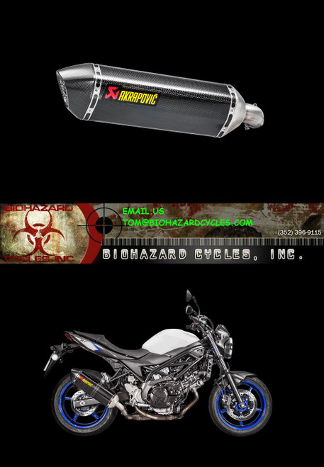 AKRAPOVIC S-S6SO9-HRC/1 CARBON SLIP-ON EXHAUST SV650 17-19