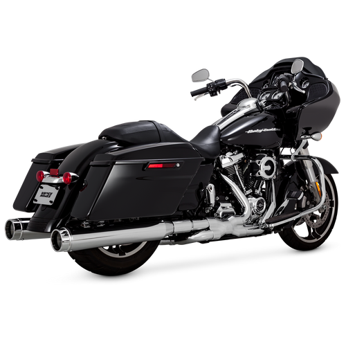 "VANCE & HINES 16674 CHROME 4.5"" TORQUER 450 Slip-On Mufflers TOURING 17-20"
