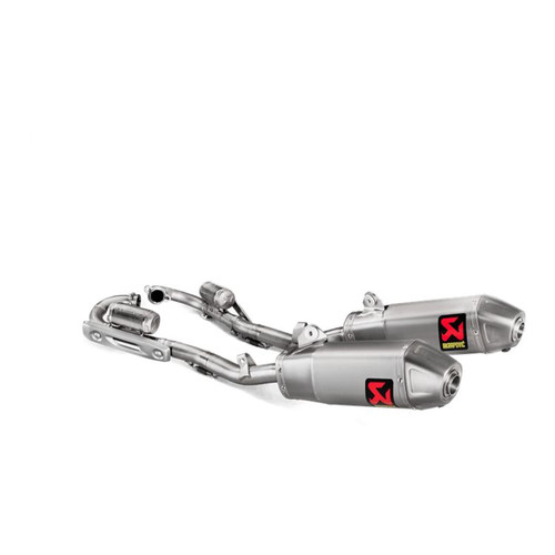 AKRAPOVIC EVOLUTION TITANIUM FULL EXHAUST SYSTEM CRF250R 18-19 S-H2MET10-CIQTA