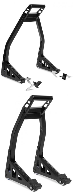 BIKEMASTER FRONT & REAR STANDS BLACK ALUMINUM