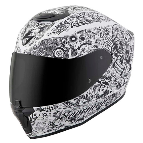 SCORPION EXO-R420 SHAKE WHITE HELMET 75-1135 ALL SIZES
