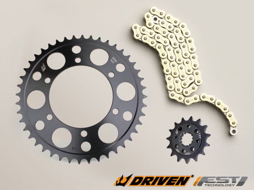 RK GXW CHAIN & DRIVEN 520 STEEL SPROCKET KIT CHOICE OF # TEETH FZ09 MT09