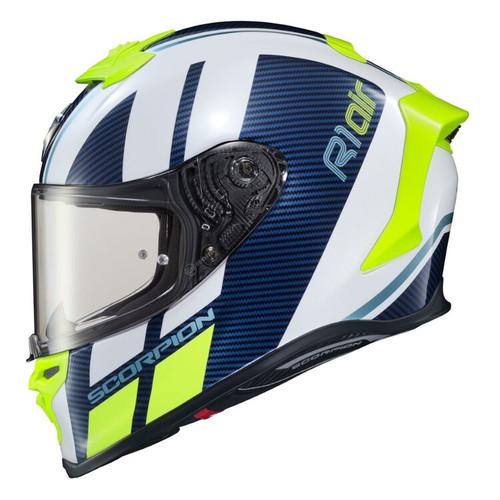 Scorpion EXO-R1 Air CORPUS WHITE / BLUE Helmet R1-1015
