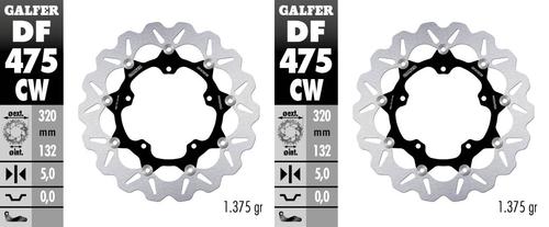 GALFER DF475CW WAVE ROTOR FRONT BRAKE DISCS R1 15-20 R6 17-20