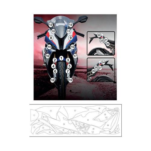 R&G SCPBMW008  Second Skin Polyurethane Protective Film BMW S1000RR 2020