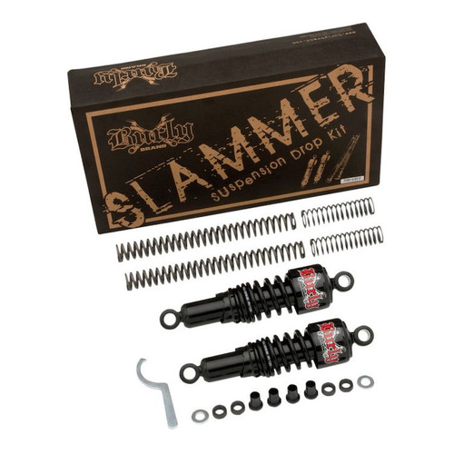 BURLY BRAND SLAMMER KIT SPRINGS & BLACK Shocks B28-1003B DYNA 06-17