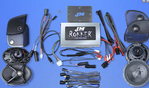 J&M STAGE-5 ROKKER XXR CUSTOM 800W 4-SPEAKER/AMPLIFIER INSTALL KIT 15-20 ROADGLIDE