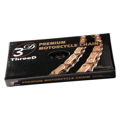 EK 3D 525 GP Chain 120 LINKS GOLD 525GP3D-120G