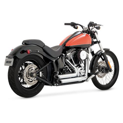 VANCE & HINES 17225 CHROME SHORTSHOTS STAGGERED 12-17 SOFTAIL