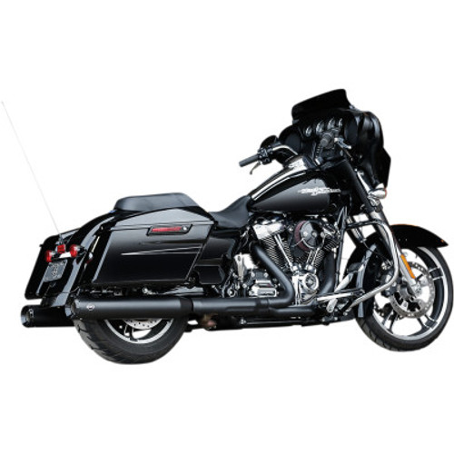 "S&S CYCLE GNX 4.5"" BLACK Slip-On Mufflers M8 FL 17-20 550-0990"