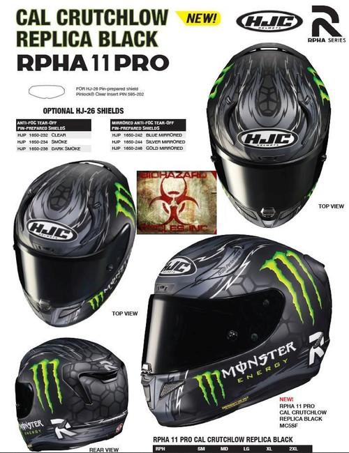 HJC RPHA 11 Pro Crutchlow BLACK Helmet ALL SIZES 1980-754