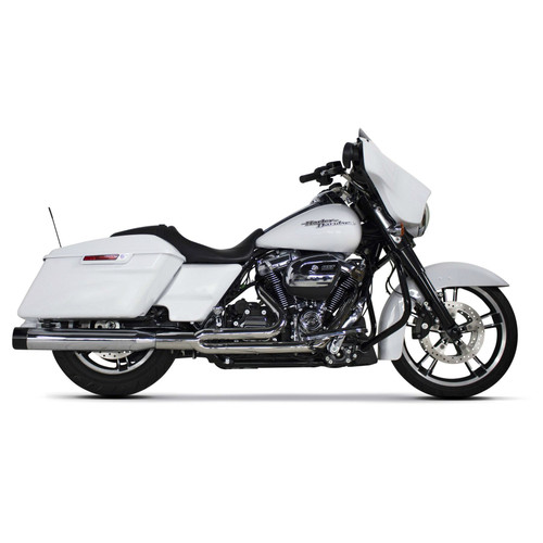 TWO BROS 005-4640199 COMP-S 2 INTO 1 CHROME / BLACK FULL EXHAUST TOURING FL 17-20